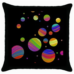Colorful galaxy Throw Pillow Case (Black)
