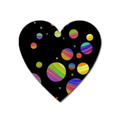 Colorful galaxy Heart Magnet