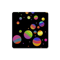 Colorful galaxy Square Magnet