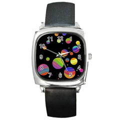 Colorful galaxy Square Metal Watch