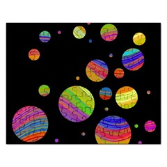 Colorful galaxy Rectangular Jigsaw Puzzl