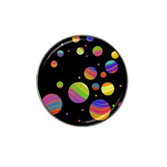 Colorful galaxy Hat Clip Ball Marker