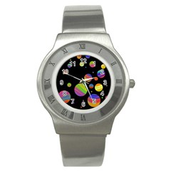 Colorful galaxy Stainless Steel Watch