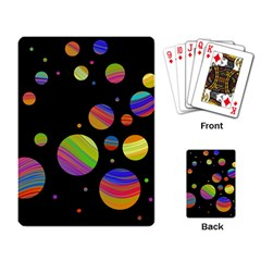 Colorful galaxy Playing Card