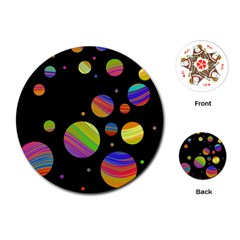 Colorful galaxy Playing Cards (Round)