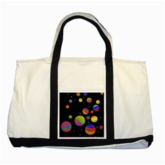 Colorful galaxy Two Tone Tote Bag