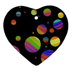 Colorful galaxy Heart Ornament (2 Sides)