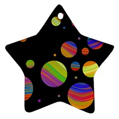 Colorful galaxy Star Ornament (Two Sides)