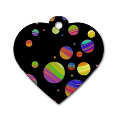 Colorful galaxy Dog Tag Heart (Two Sides)