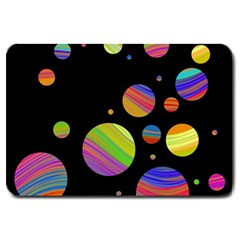 Colorful galaxy Large Doormat