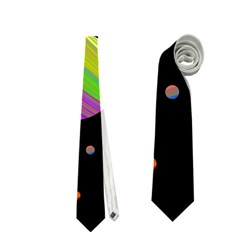 Colorful galaxy Neckties (Two Side)