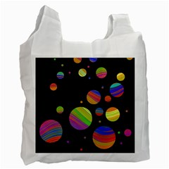 Colorful galaxy Recycle Bag (Two Side)