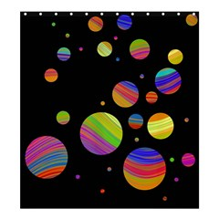 Colorful galaxy Shower Curtain 66  x 72  (Large)