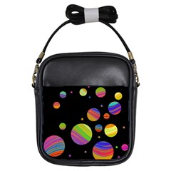 Colorful galaxy Girls Sling Bags