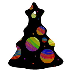Colorful galaxy Christmas Tree Ornament (2 Sides)