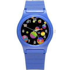 Colorful galaxy Round Plastic Sport Watch (S)