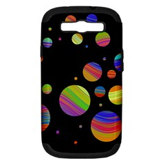Colorful galaxy Samsung Galaxy S III Hardshell Case (PC+Silicone)