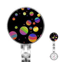 Colorful galaxy Stainless Steel Nurses Watch