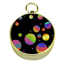 Colorful galaxy Gold Compasses