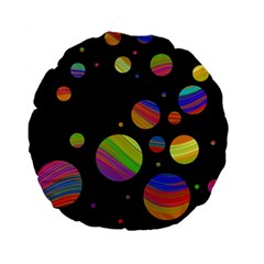 Colorful galaxy Standard 15  Premium Flano Round Cushions