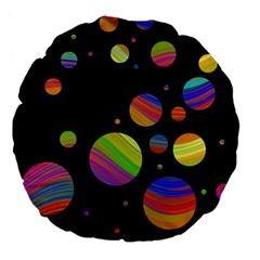 Colorful galaxy Large 18  Premium Flano Round Cushions