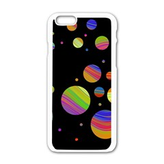 Colorful galaxy Apple iPhone 6/6S White Enamel Case