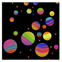 Colorful Galaxy Large Satin Scarf (square)