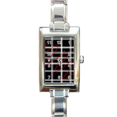 Not so simple  Rectangle Italian Charm Watch