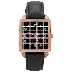 Not so simple  Rose Gold Leather Watch