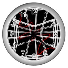 Not so simple 2 Wall Clocks (Silver)