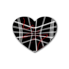 Not so simple 2 Rubber Coaster (Heart)