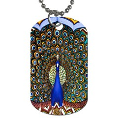 The Peacock Pattern Dog Tag (One Side)