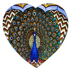 The Peacock Pattern Jigsaw Puzzle (Heart)