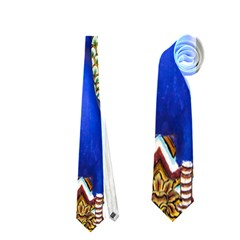 The Peacock Pattern Neckties (Two Side)