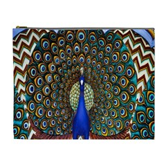 The Peacock Pattern Cosmetic Bag (XL)