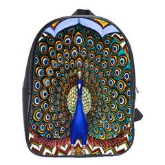 The Peacock Pattern School Bags(Large)