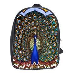 The Peacock Pattern School Bags (XL)