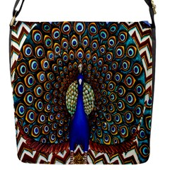 The Peacock Pattern Flap Messenger Bag (S)