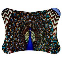 The Peacock Pattern Jigsaw Puzzle Photo Stand (Bow)