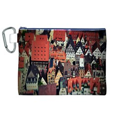 Tilt Shift Of Urban View During Daytime Canvas Cosmetic Bag (XL)