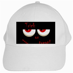 Halloween  Trick or treat  - monsters red eyes White Cap