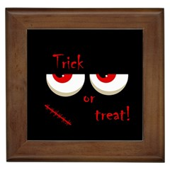 Halloween  Trick or treat  - monsters red eyes Framed Tiles
