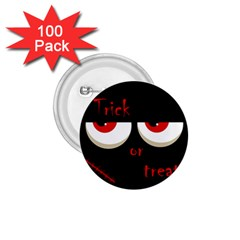 Halloween  Trick or treat  - monsters red eyes 1.75  Buttons (100 pack)
