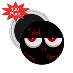 Halloween  Trick or treat  - monsters red eyes 2.25  Magnets (100 pack)