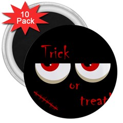 Halloween  Trick or treat  - monsters red eyes 3  Magnets (10 pack)