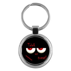 Halloween  Trick or treat  - monsters red eyes Key Chains (Round)