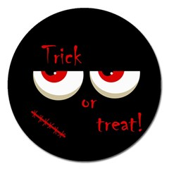 Halloween  Trick or treat  - monsters red eyes Magnet 5  (Round)