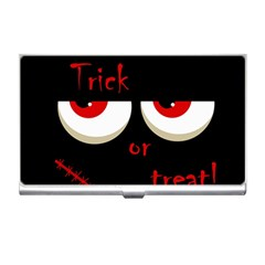 Halloween  Trick or treat  - monsters red eyes Business Card Holders