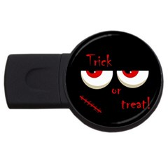 Halloween  Trick or treat  - monsters red eyes USB Flash Drive Round (1 GB)
