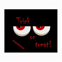 Halloween  Trick or treat  - monsters red eyes Small Glasses Cloth